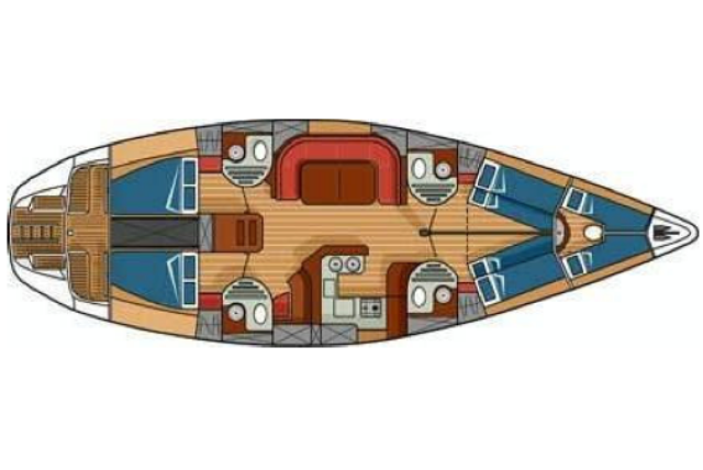 Crociere barca a vela Sun Odyssey 51 - c